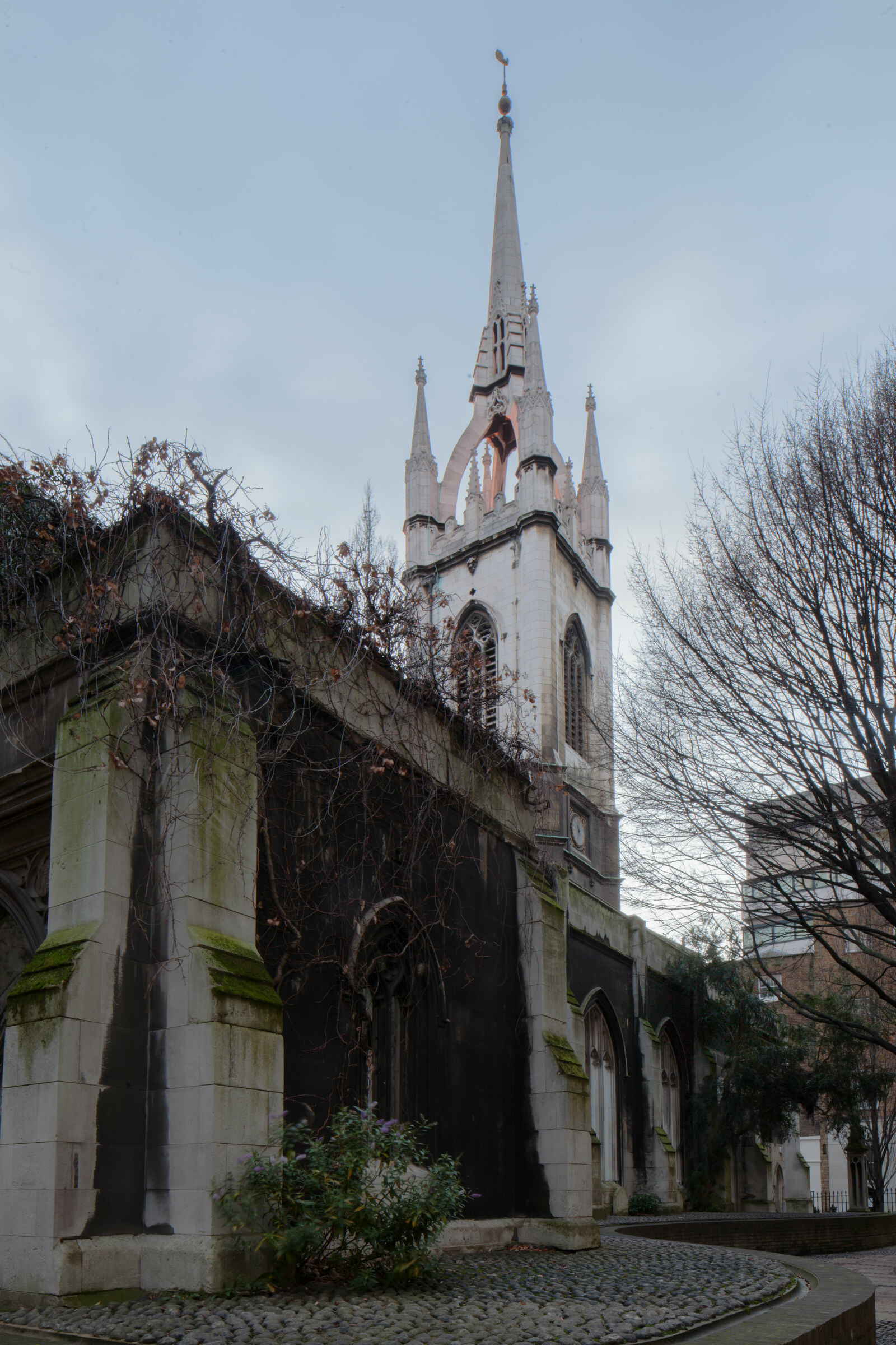Tower and spire of  St Dunstan's church