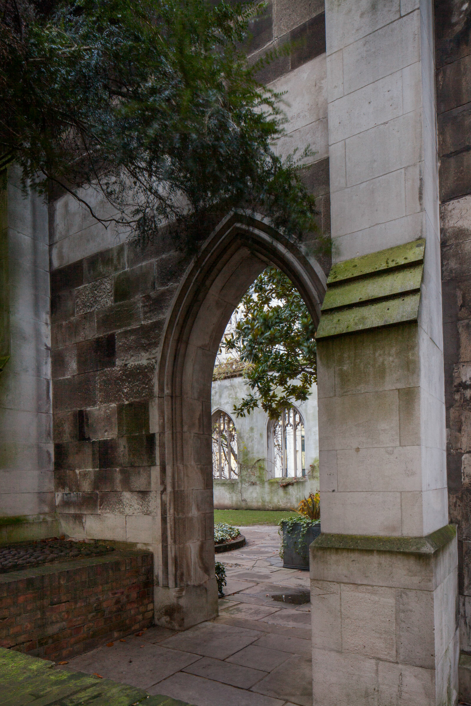 Gothic arch or doorway at  St Dunstan's church