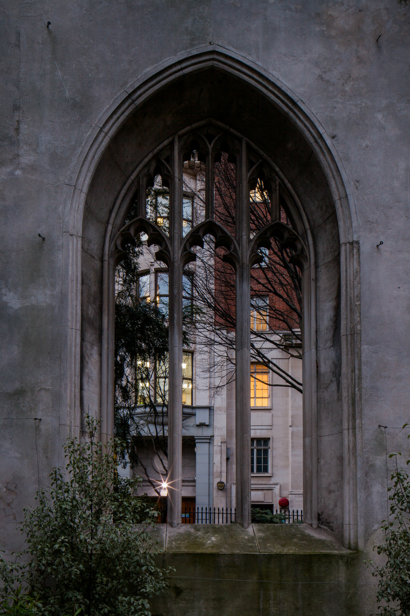 Gothic window at St Dunstan's church